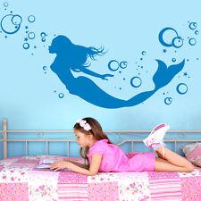 10725 Wandtattoo Loft Aufkleber Meerjungfrau Sterne Blubberblasen Arielle Meer