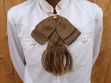 Mexican Bow Tie Charro/Mariachi Black/Gold For Kids.Moño Charro/Mariachi De Niño
