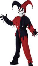 Jester Evil Child Costume Red & Black Halloween Fancy Dress California Costume