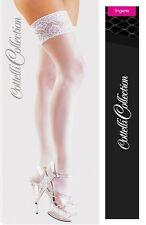 Sexy Calze autoreggenti bianche con pizzo Cottelli Sexy shop toys lingerie donna