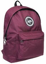 Hype Badge Burgundy Unisex Nylon Shoulder Bag Backpack