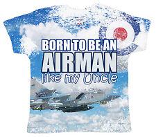 """DF camiseta para bebé Estampado Integral """"Born to ser un Aviador like my Tío"""""""