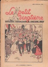 Petit Vingtième 1940 - n°15. Couverture Tintin, Hergé.