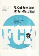 OL 82/83 FC Karl-Marx-Stadt - FC Carl Zeiss Jena