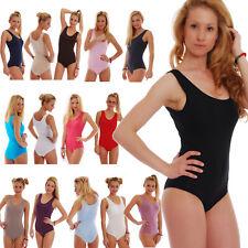 Cotton Women's Bodysuit Vest Bikini S M L XL 2XL 3XL TG1365 Leotard Lady Body EU