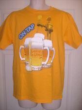 Amarillo/Naranja para hombre T-Shirt, Gavin DeGraw Rock cantante, cerveza en grifo, Tamaño Mediano