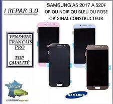 Ecran Lcd + vitre tactile Original Samsung Noir Or Bleu ou Rose  A5 2017 A520F