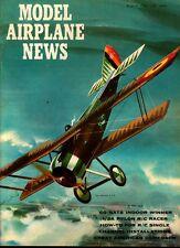 MODEL AIRPLANE NEWS AUG 1961 WW1 TRAINER JN-4 AVRO 504K