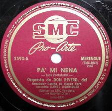 """Orquesta de DON RIVERO 78 Me Dejaste / Pa Mi Nena 10"""" Latin MERENGUE"""