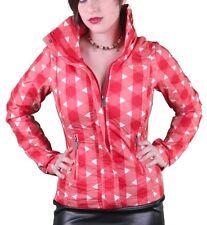 Bench UK Urbanwear Womens BBQ Barbecue Star Red Jacket w Hood BLKA1552 NWT