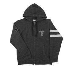 Texas Rangers Official Majestic Gray Clubhouse Fleece Full Zip Hoodie MSRP $80