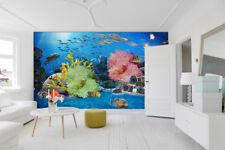 3D Marini Pesce 5 Parete Murale Foto Carta da parati immagine sfondo muro stampa