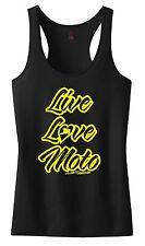 LIVE LOVE MOTO RACERBACK TANK TOP SHIRT JUST RIDE MX MOTOCROSS YZF CRF KXF KTM