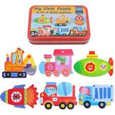 New Animal Educational Set Puzzle Baby Preschool Toys Iron Box Children Gifts W