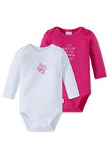 SCHIESSER Baby Body 2er Pack 80 86 92 98 104 Bodies Langarm 100% Baumwolle