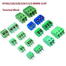 KF301/126/128/129/3.5/3.96MM-2/3P PCB Terminal Block Screw Connector Greren/Blue