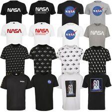 Mister Tee NASA Tee Shirts Wormlogo Allover Spaceship Rocket Tape Planet T-Shirt