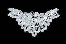 5 Pieces Guipure Lace Applique Motif Neckline Trim Patch - 14cm × 8cm