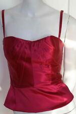 Dolce & Gabbana  Pink Rose Satin Corset Top NEW 42 8