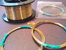 Jewelers Bronze Brass ROUND Wire Gauge12-28g Nu-Gold Merlins Gold USA Dead Soft