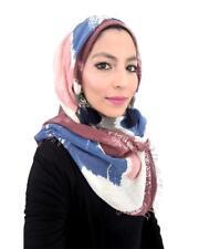Multi-tone Incredibly Soft Thick Cotton Hijab UK Designer Maxi Scarf Shawl Wrap