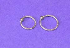 SURGICAL STEEL  PIERCED NOSE LIP EAR CARTILAGE  HOOP RING STUD 8 OR 10 MM CBR