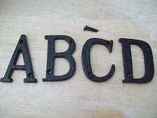 """3""""/75mm CAST WROUGHT IRON BLACK ANTIQUE HOUSE DOOR ALPHABET LETTERS"""