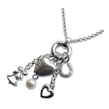 "Sterling Silver Wedding Heart Locket Charms 925 HM Belcher Chain 18"" 20"" 22"" 24"""