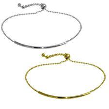 Sterling Silver Tube Bead Lariat Bracelet