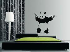 Banksy Panda Wall Art Sticker, Decalcomania, Murale, Trasferimento, in vinile. dimensioni 3 X