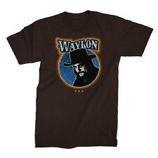 Authentic WAYLON JENNINGS Fugitive Slim-Fit T-Shirt Brown S M L XL 2XL NEW