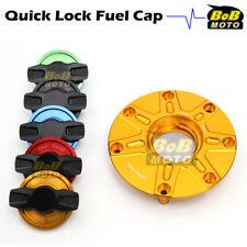 GOLD FCR 1/4 Quick Lock Gas Fuel Cap For Honda CBR 600 F4I F4 91-08 05 06 07
