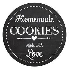 HOMEMADE con amore, Cookie etichette, 60mm, grande idea per la vostra casa COTTA REGALI