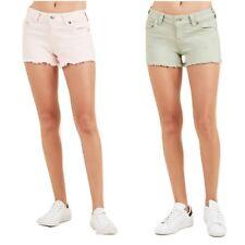 True Religion Women's Keira Low Rise Denim Cutoff Mini Shorts