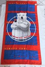 Coca-Cola - DRAP DE BAIN OU PLAGE 1997 NEUF COCA-COLA L'OURS 75 cm x 150 cm