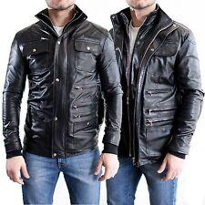 ★ In PELLE 100% o Di Pelle PU ★ Giubbotto Giacca Uomo Men Leather Jacket E2a-E2b
