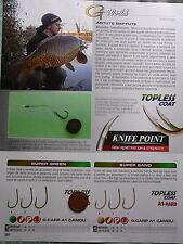 Ami Gamakatsu Super A1 Hard vari modelli e misure, pesca carp fishing
