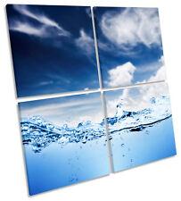 Onda de Agua Surf Paisaje Marino De Lona Pared Arte Cuadrado de impresión de múltiples