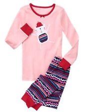 NWT Gymboree Christmas Girls Gymmies Bear pajamas 4,8 Holiday