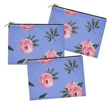 S4Sassy floral lot de 3 sacs à maquillage maquillage-FL-724B