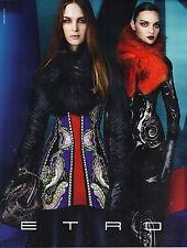 PUBLICITE  2012    ETRO   haute couture hiver 2012/2013 femme