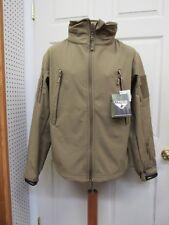 New Condor 602 Summit Soft Shell Tactical Jacket Coat Concealed Hood Coyote Tan