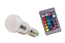 LAMPADINA LAMPADA LED RGB TELECOMANDO LUCE MULTICOLOR  E27 E14 RGB+TELECOMANDO