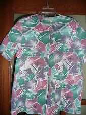 Womens size M Short Sleeved Blue/GreenPink/Purple  Scrub Top/Jacket