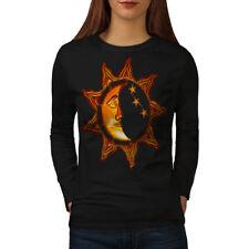 Sun Moon Day Night Space Women Long Sleeve T-shirt NEW | Wellcoda