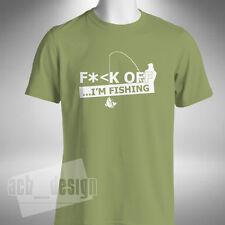 F*<k Off I'm Fishing Mens T-Shirt Funny Angler Baiter Carp Pike Fisherman