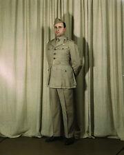 US Marine Corps Major in World War II summer uniform Photo Print