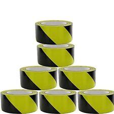 WARNING HAZARD BARRIER SELF SAFETY ADHESIVE BLACK/YELLOW TAPE PVC ROLL 48mm x33m