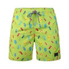 Men's Holiday Surfing Shorts Fast Dry Mesh Lining Slipper Pattern Swim Trunks