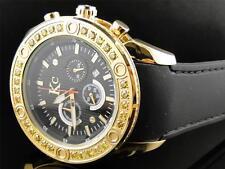 Mens Techno Com KC Joe Rodeo Master Genuine Yellow Canary Diamond Watch 3.20 Ct